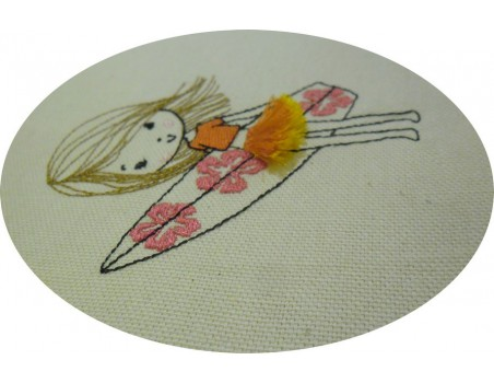 Machine Embroidery design surfer boy