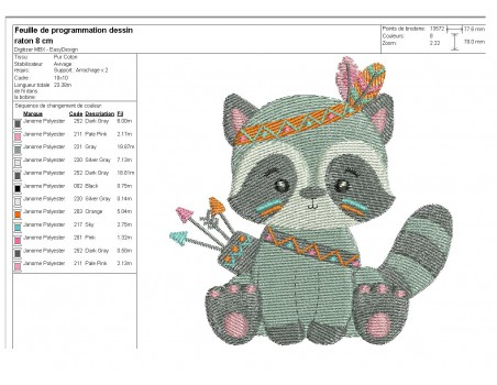 Instant download machine embroidery design indian zebra
