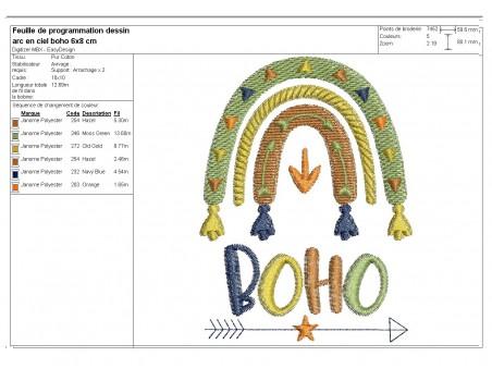 Embroidery design arrow dream catcher boho