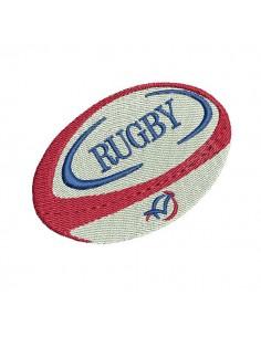 Motif de broderie machine ballon  rugby