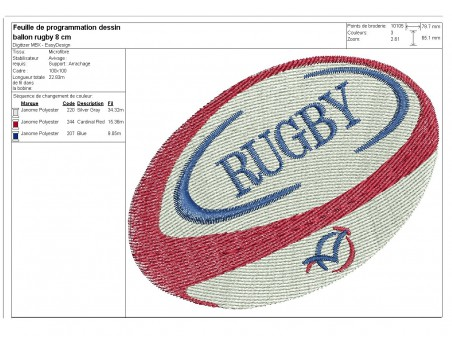 Embroidery design text I can not rugby