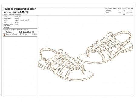 Instant download machine embroidery design applique platform shoes