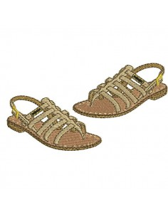 Instant download machine embroidery design redwork sandals