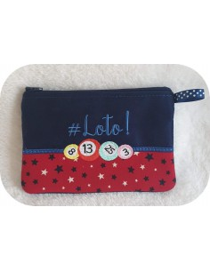 Instant download machine embroidery   ith zip purse UNO
