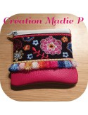 Instant download machine embroidery ith zipper case bohème