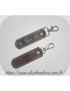 Instant download machine embroidery ith  keychain customizable