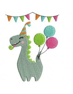 Instant download machine embroidery design diplodocus dinosaur