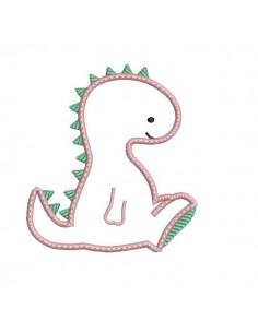 Instant download machine embroidery design diplodocus dinosaur birthday