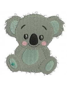 Motif de broderie machine koala garçon