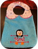 Instant download machine embroidery Penguin to customize for boy