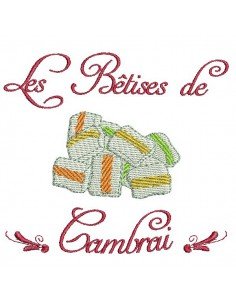 Instant download machine embroidery design  Cambrai candies