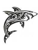 Instant download machine embroidery design wolf tribal tatoo