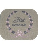 Instant download machine embroidery design crystal frame
