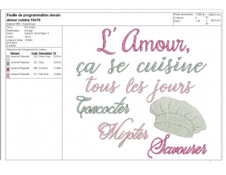 Instant download machine embroidery design applique chef's hat