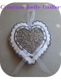 Instant download machine embroidery design ITH lavender heart with fringed pompom