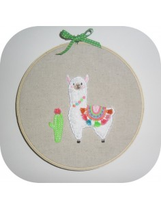 Instant download machine embroidery applique  lama with tassels fringes