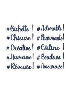 Instant download machine embroidery 10 words
