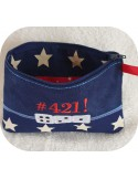 Instant download machine embroidery   ith zip purse Domino