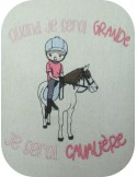Instant download machine embroidery design  little girl dancer