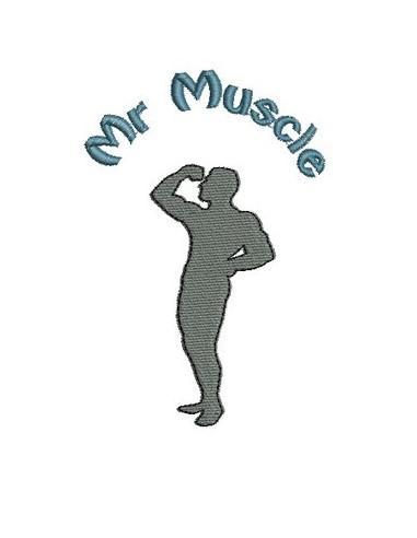 Motif de broderie Mr muscle