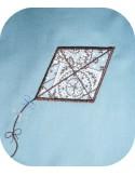 Motif de broderie cerf volant