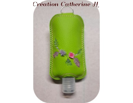 Instant download machine embroidery ith Sanitizer Holders Set  bohème