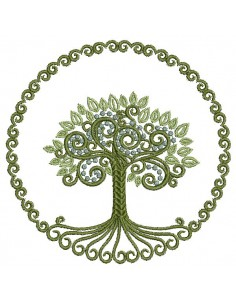 Instant download machine embroidery design tree of Life