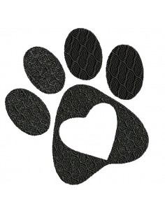 Instant download machine embroidery  dog paw