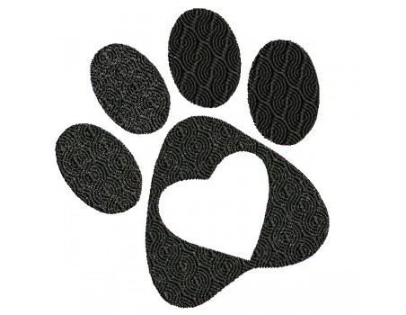 Instant download machine embroidery applique dog paw