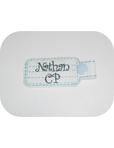 machine embroidery design  phone contact keychains ith