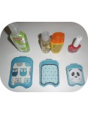 Instant download machine embroidery ith Sanitizer Holders Set  boho for 4x4 hoop