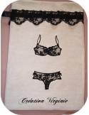 Motif de broderie  lingerie appliquée