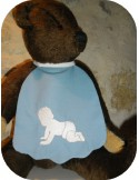 Motif de broderie bébé à 4 pattes