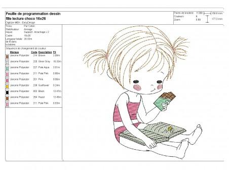 Instant download machine embroidery design  littlegirl drinking grenadine syrup