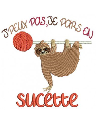 Embroidery design text I can't I go peanut with a lama