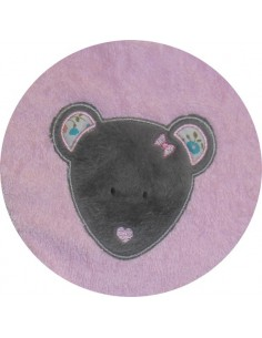 embroidery design machine little bear applique