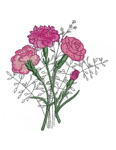 Instant download machine embroidery design Physalis
