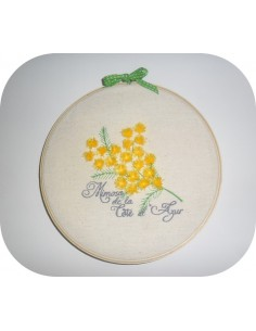 Instant download machine embroidery design mimosa fringes tassels