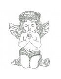 Instant download machine embroidery  little angel