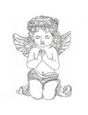 Motif de broderie machine petit  ange prière