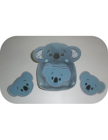 Motif de broderie machine corbeille koala  ITH