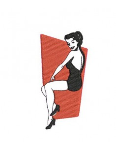 instant download machine embroidery design pin up