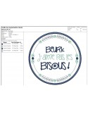 Instant download machine  embroidery design funny kids words caca prout
