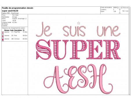 Embroidery design super avs