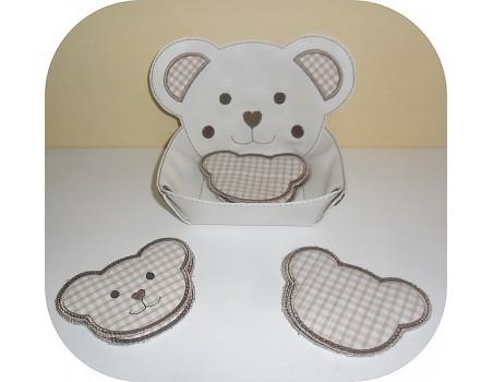 Instant download machine embroidery design ith koala head box