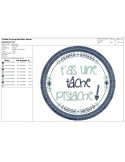 Instant download machine  embroidery design as good as gold