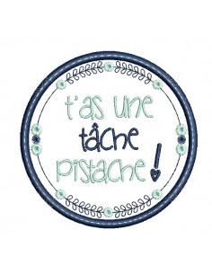 Instant download machine  embroidery design you have a task, pistachio