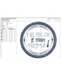 Instant download machine  embroidery design funny kids words you're no longer my girlfriend