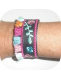 Instant download machine embroidery ith wristband with fringes  tassel 3D
