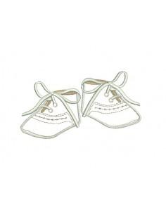 Motif de broderie chaussons de bébé appliqués